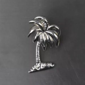 Solid Sterling Silver Palm Tree Pendant